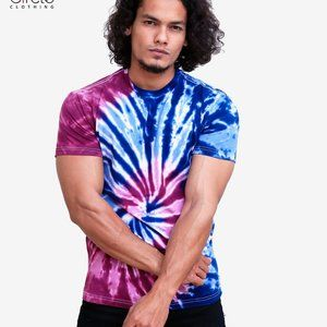 Blue and Purple Tie Dye T Shirt